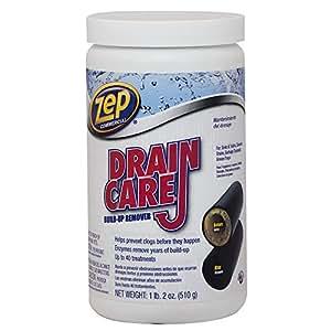 Zep ZDC16 Drain Care Build-Up Remover Powder 18 Ounces