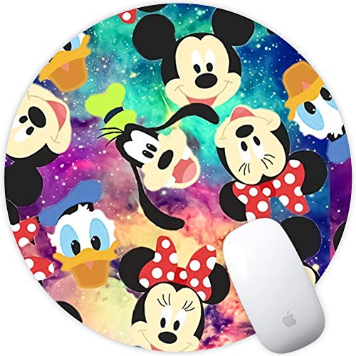 DISNEY COLLECTION Round Mouse Pad Disney Light Slim Skid Proof High Mouse Tracking for Office, Gaming and Home