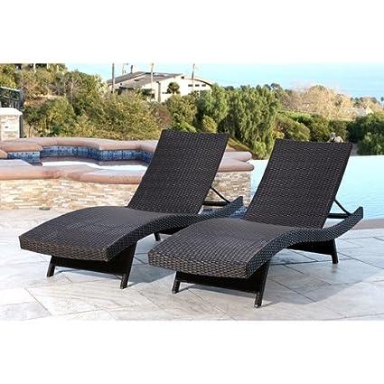 Image Unavailable - Amazon.com : Palermo Outdoor Espresso Adjustable Wicker Chaise (Set