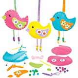Kits couture Décorations Oiseaux que les enfants pourront fabriquer et suspendre (Lot de 3)