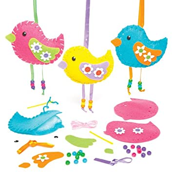 Baker Ross Kits de Costura de Fieltro en Forma de Pájaros para ...