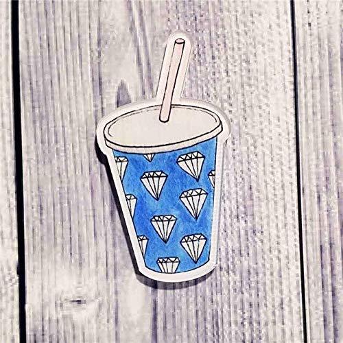 Fashion Cute Creative Lovely Collar Pin Snacks Series Badge Cartoon Brooch | Main Color - blue milky tea