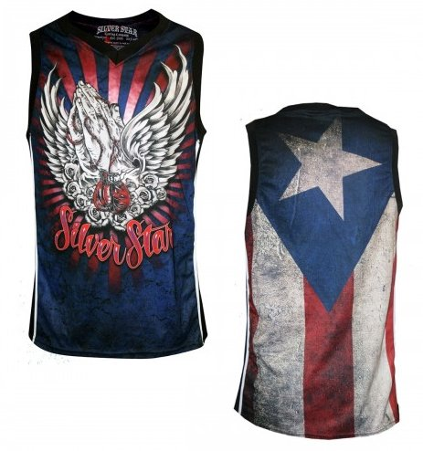 Silver Star Knock Out Mens Premium MMA Athletic Jersey
