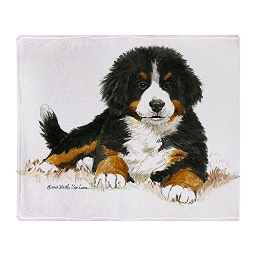 CafePress Bernese Mountain Dog Bright Eyes Soft Fleece Throw Blanket, 50