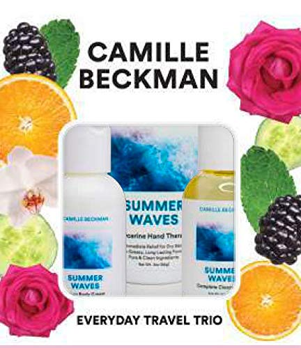 Camille Beckman Everyday Collection Travel Trios, Summer Waves, Glycerine Hand Therapy 3 oz, Silken Body Cream 2 oz, Complete Cleansing Gel 2 ()