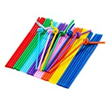 Zcargel Hot Sale Colorful Flexible Disposable Extra Long Drinking Straw Plastic