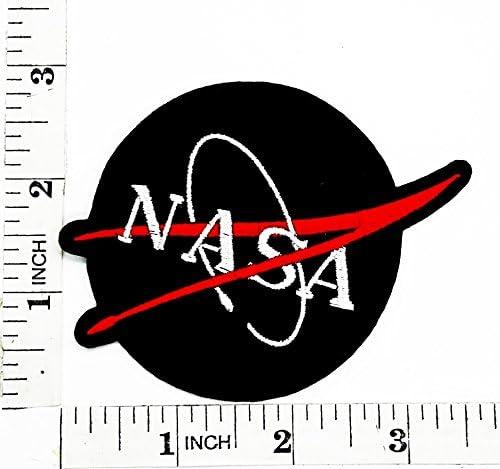 Negro programa espacial de la NASA Vector parche para planchar y ...