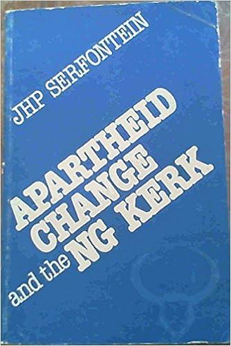 Apartheid Change and the NG Kerk