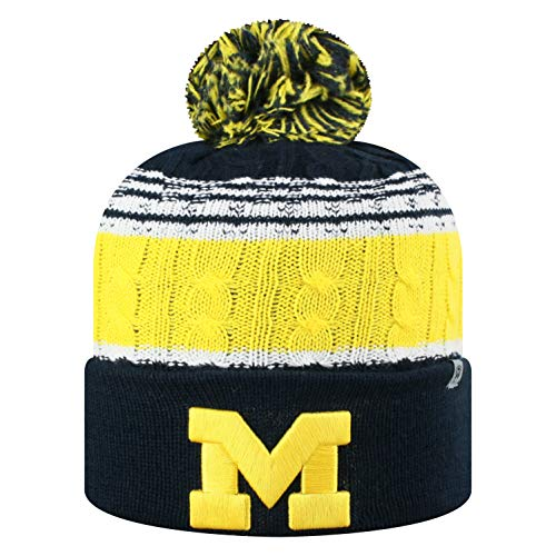 - Top of the World NCAA Michigan Wolverines Men's Winter Knit Altitude Warm Hat, Navy