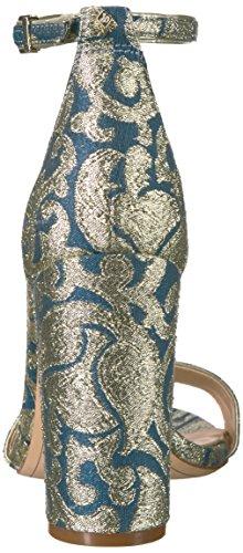 Multi Edelman Sam Heeled Vivid Sandal Bouquet Blue Multi Print Navy Women's Yaro Fabric 7wdwWrqC