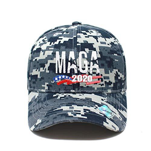 MAGA Hat Make America Great Again Baseball Trucker Hat (Unisex) | Trump Rally Campaign (MAGA Ball Cap Blue Camo x1)