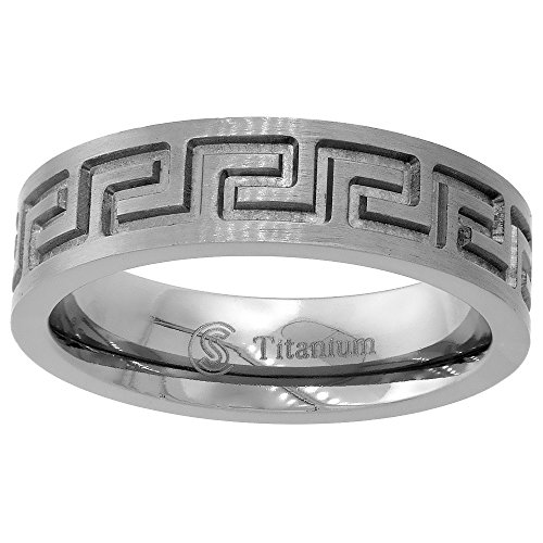 Titanium Wedding Greek Comfort sizes