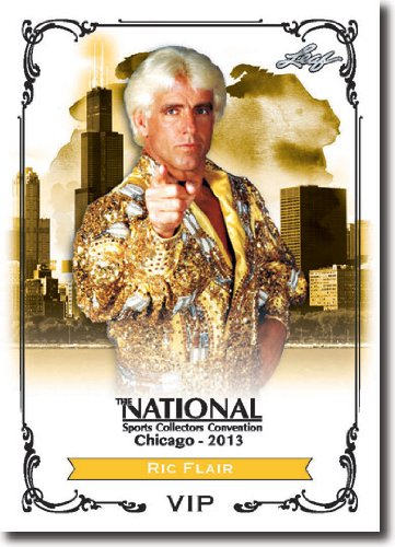 2013 Leaf National Redemption Exclusive VIP Limited Edition Promotional Ric Flair Wrestling Superstar / Legend (The National Sports Collectors Convention Promo Baseball Trading Card)