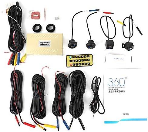 Monland 360度HD駐車支援システム、パノラマリアビューカメラ、車のカメラ全ラウンド防水逆転カメラ、360度駐車システム