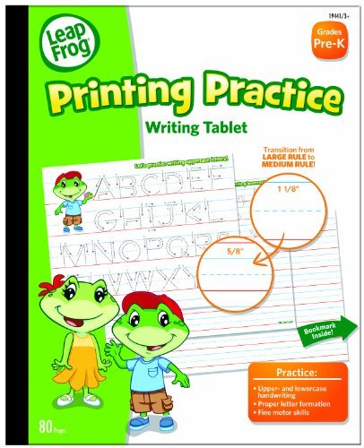 LeapFrog Printing Practice Writing Tablet with Ruled Guidelines for Grades Pre-K, 80 Sheets per Pad (19441) Office Supply Product