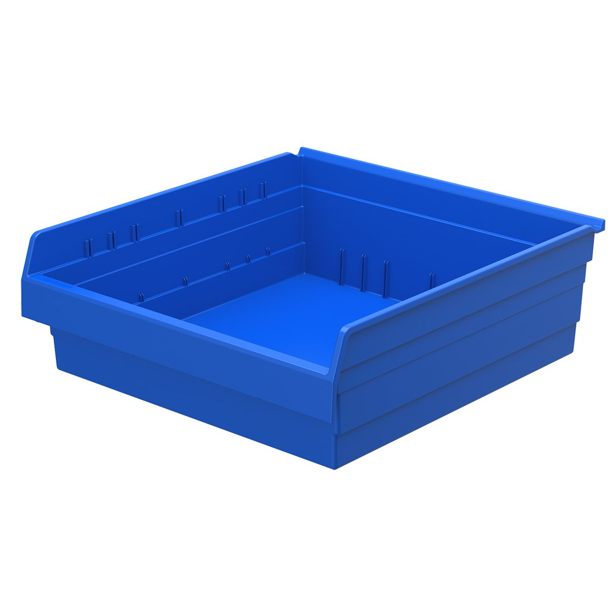 Akro-Mils 30824 ShelfMax 8 Plastic Nesting Shelf Bin Box, 24-Inch x 22-Inch x 8-Inch, Blue, 4-Pack