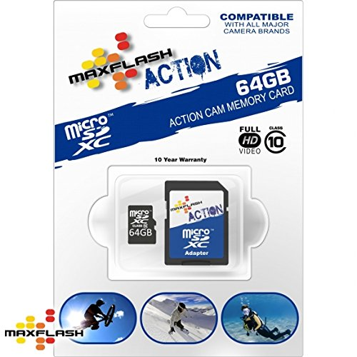 Max-Flash 64GB ACTION MICRO SDHC CL.10