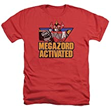 Mighty Morphin Power Rangers Megazord Activated Mens Heather Shirt
