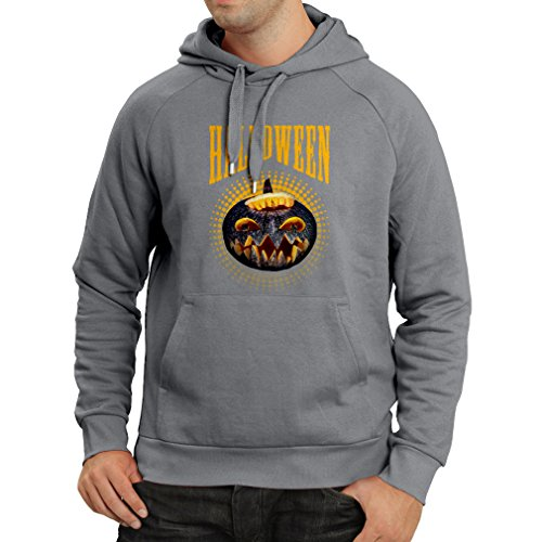 Hoodie Halloween Pumpkin - Clever Party Costume Ideas 2017 (Medium Graphite Multi Color) ()
