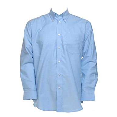 f9234f1b3d0a KUSTOM KIT Mens Workwear Oxford Long Sleeve Shirt  Amazon.de  Bekleidung