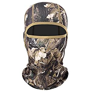 AXBXCX Camouflage Men's Balaclavas Excellent Elastic Breathable Windproof Face Mask Neck Gaiter Protection for Motorcycling Hunting Fishing Camping Skiing BE-P-01