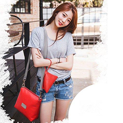 Eysee - Bolso mochila  de poliuretano para mujer negro
