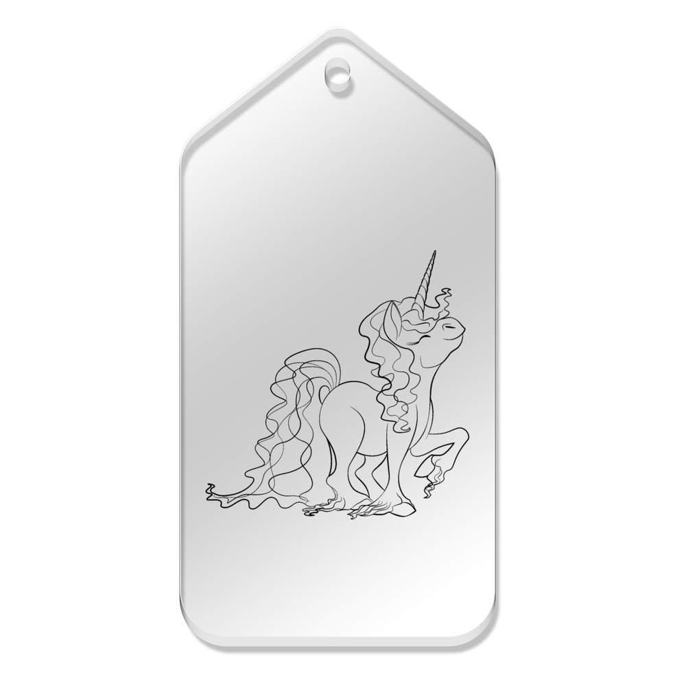 Azeeda 10 x Grand \'Fierté de Licorne\' etiquettes de Bagage / Cadeau (TG00032184)