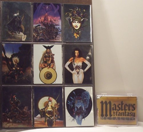 Masters of Fantasy Metallic Fantasy Art Trading Cards Base Set by Masters oF Fantasy