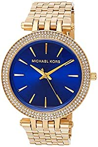 Michael Kors Womens Quartz Watch, Analog Display and Stainless Steel Strap MK3406