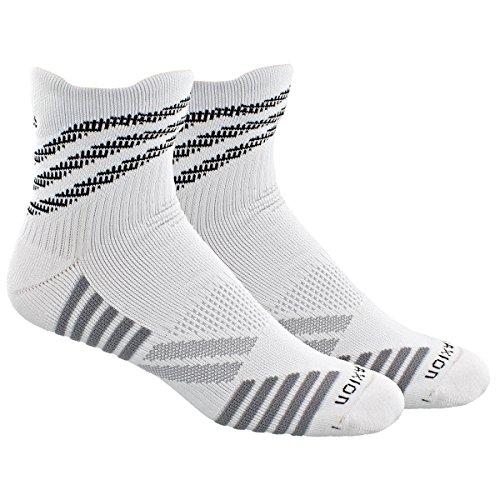 Basketball Team Socks (adidas Speed Mesh Basketball/Football Team High Quarter Socks, White/Black/Lgh Solid Grey/Light Onix, Medium)
