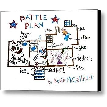 Framed Home Alone Kevins Battle Plan Prop Poster 8.5 X 11 Print