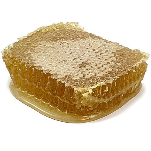 Raw Honeycomb by Honey Feast - American organic floral sources. USA product. Unfiltered & Pure 11-14oz.