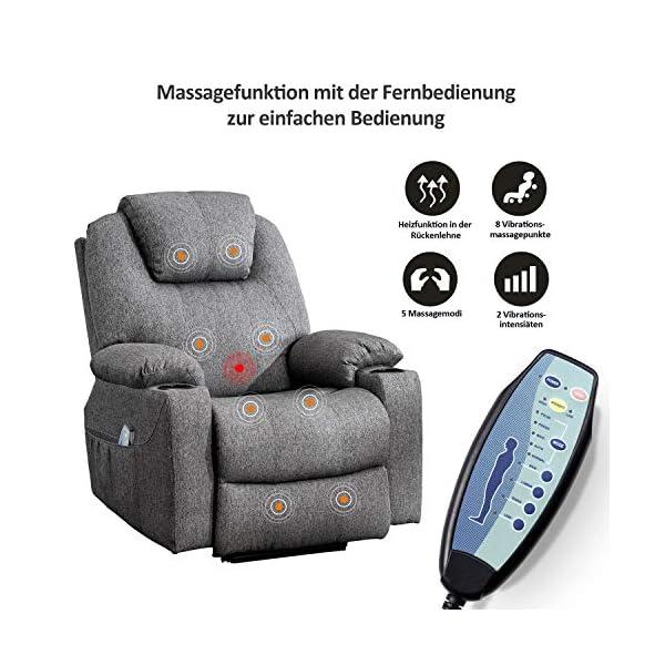MCombo 7061 Fauteuil de Relaxation électrique avec Fonction Vibration