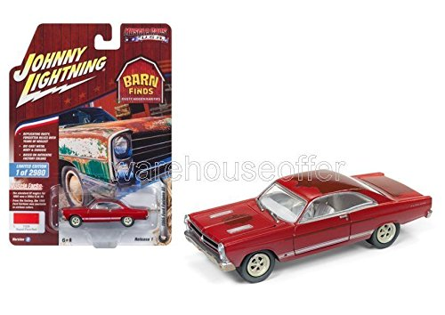 BRAND NEW DIECAST 1:64 MUSCLE CARS USA 2018 RELEASE 1 VERSION B - 1966 FORD FAIRLANE GT (SIGNAL FLARE RED) JLCP7079-24 BY JOHNNY LIGHTNING