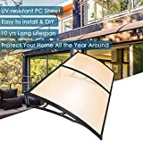 Yescom 79x40' Door Window Outdoor Awning 2 Whole Hollow Polycarbonate Sheets Cover UV Rain Snow Protection