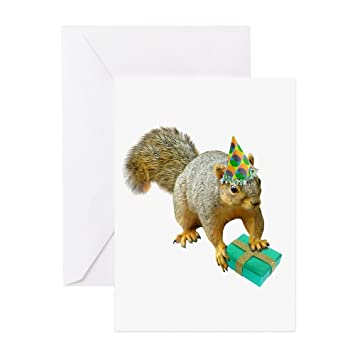 Amazon Cafepress Birthday Squirrel Greeting Card Note