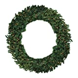 60'' Pre-Lit Deluxe Windsor Pine Artificial Christmas Wreath - Clear Lights