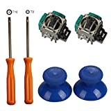 xbox 360 replacement parts - Timorn 2pcs Replacement Thumbsticks Joysticks Swap and 2pcs Wireless Controller Rocker with T8 T10 Torx Screwdriver Repair Kits Parts for Xbox One Controller