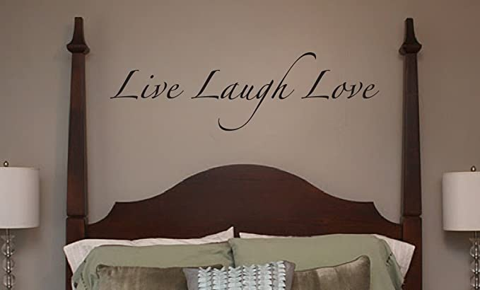 Wall Stickers LIVE LAUGH LOVE Wall Quotes BEDROOM VINYL WALL ART DECAL S50a