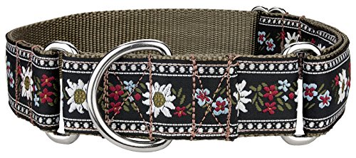 Country Brook Design | Queen of The Alps Woven Ribbon Martingale Collar - Medium ()
