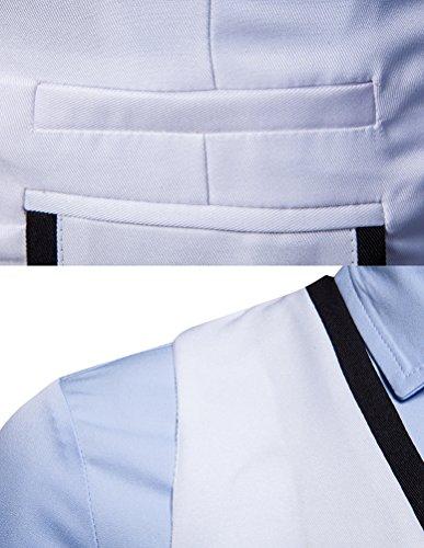 Fit Fit Fit De De De De Zhiyuanan Blazer Blanc Slim Costume Homme Couleur Gilet V FqWndxqg4