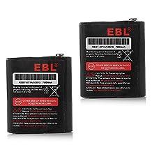 EBL 3.6V 700mAh Two-Way Radio Rechargeable Battery for Motorola 53615 m53615 KEBT-071-A KEBT-071-B KEBT-071-C KEBT-071-D Talkabout 5950 T4800 T4900 T5000 T5800 T9500R FV500 Series HKNN4002A HKNN4002B Ni-MH 2 Pack