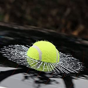 AUTOMAN Zerbrochenes Glas Funny Crazy Aufkleber 4Ball Tennis Fußball...