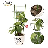 Povkeever Garden Plant Support Ring,Flower Iron Support Climbing Plant Grow Cage size 3set 60cm/24inch