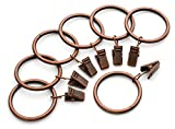 #8: Iron Metal Curtain Clip Rings 1 1/2 Inch Interior Diameter (50, Copper)