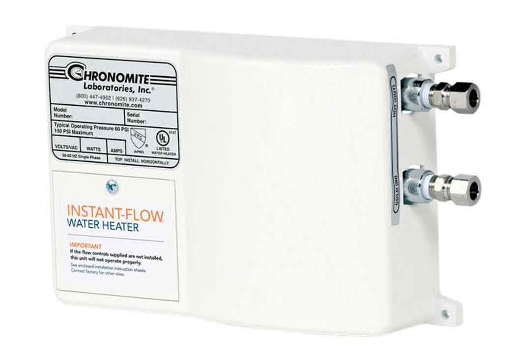 Chronomite SR-15L/120 HTR 120-Volt 15-Amp SR Series Instant-Flow Low Flow Tankless Water Heater by Chronomite