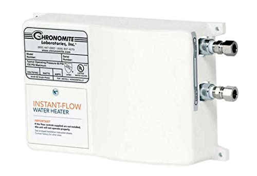 Chronomite SR-20L/208 HTR 208-Volt 20-Amp SR Series Instant-Flow Low Flow Tankless Water Heater