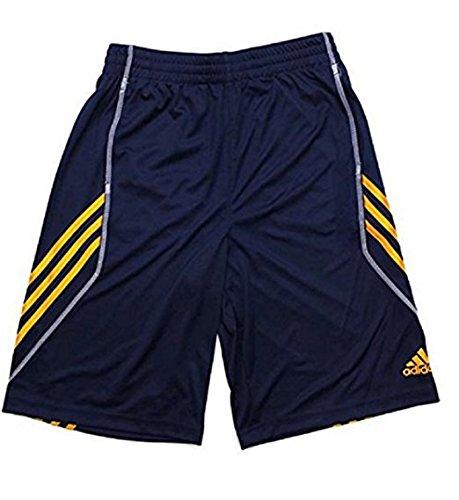 Small 8, Navy//Orange Adidas Big Boys Basics Shorts