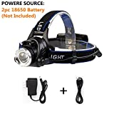 BenRan Headlamp Super Bright Automatic Sensor Switch Light CREE T6 Adjustable Focus Zoom Lights Lamp,Headlight Bicycle LED Flashlight,4 Modes,Rechargeable (A Lnduction lamp)