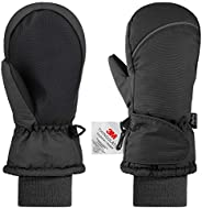 Andake Kids Ski Mittens Winter Children 3M Thinsulate Gloves Waterproof Windproof Warm Winter Snow Mittens for